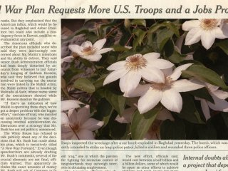 Becca Albee War Plan Requests, Newspaper and Flowers art for sale