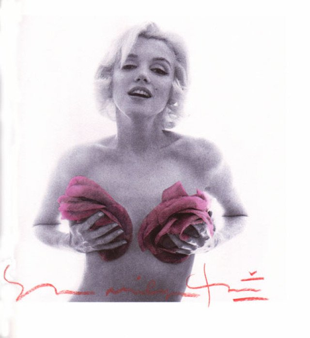 Bert Stern, Marilyn Monroe with Purple Roses