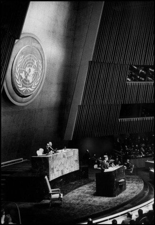 New York City. 1961. US President John Fitzgerald KENNEDY at United Nations headquarters., by <a href='/site-admin/artists/artist/1121'>Bob Henriques</a>