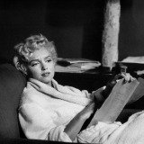 Bob Henriques, New York City. American actress Marilyn Monroe at home. 1958.