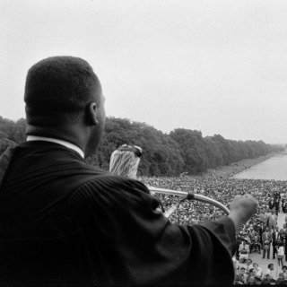 Washington DC. May 17th, 1957. Martin Luther King speaking to the crowds at the 1957 Prayer Pilgrimage for Freedom. art for sale