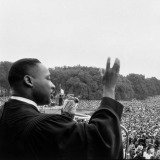 Bob Henriques, Washington DC. Prayer Pilgrimage for Freedom, May 17, 1957. Martin Luther King speaking to the crowds.