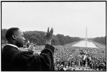 Washington DC. Prayer Pilgrimage for Freedom, May 17, 1957. Martin Luther King speaking to the crowds., by <a href='/site-admin/artists/artist/1121'>Bob Henriques</a>