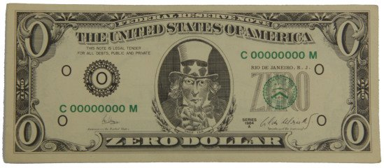 Zero Dollar, by Cildo Meireles