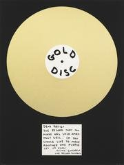 Gold Disc, by David Shrigley
