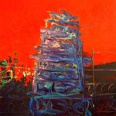 Deborah Brown Tower of Babel #5 art for sale