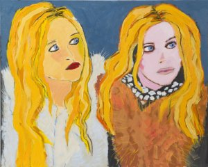 Don Florence Olsen Twins art for sale