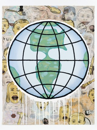 Lincoln Center Globe, by &lt;a href=&#39;/site-admin/artists/artist/64&#39;&gt;Donald Baechler&lt;/a&gt;