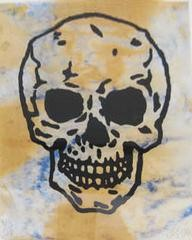 Untitled (Skull), by Donald Baechler