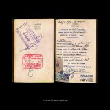 Dor Guez, Scanograms #2, Government of Palestine, Passport, El Monayer Family, before 1948