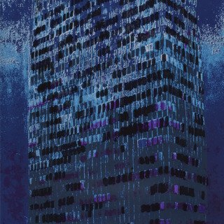 Lever House (Indigo) art for sale