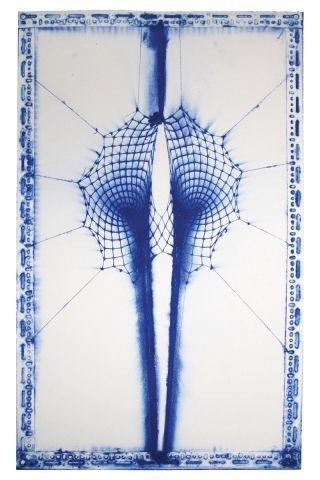 Double Black Hole (Blue and White), by E.V. Day