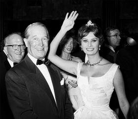 Sophia Loren and Maurice Chevalier, by Frank Worth