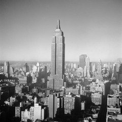 New York City. The Empire State Building. 1950, by George Rodger