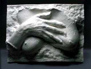Hand on Breast, by <a href='/site-admin/artists/artist/909'>George Segal</a>