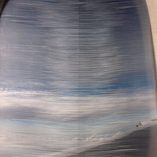 Airplane Window-interlaced art for sale