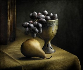 Still Life with Grapes, by Harold Ross