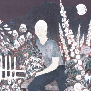 The Albino in the Moonlight Garden art for sale