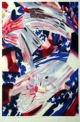 STARS AND STRIPES AT THE SPEED OF LIGHT, by James Rosenquist