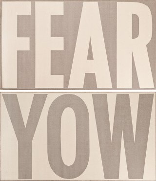 Jenny Holzer FEAR/YOW art for sale