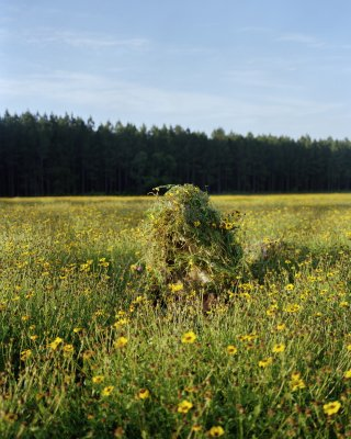 Jeremy Chandler Ghillie Suit 1 (Flowers) art for sale