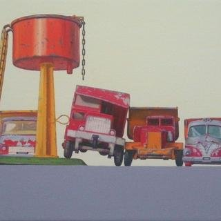 Dump Truck Parking art for sale