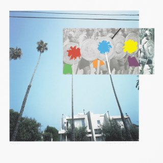 John Baldessari The Overlap Series: Palmtrees and Building (with Vikings) art for sale