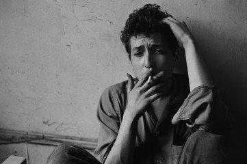 Bob Dylan at My Loft, Third Avenue, by <a href='/site-admin/artists/artist/623'>John Cohen</a>