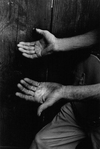Roscoe Holcomb's Hands, by <a href='/site-admin/artists/artist/623'>John Cohen</a>