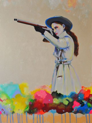 Joshua Petker Untitled (SPAGHETTI WESTERN I) art for sale