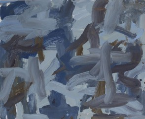 Untitled (blue grey burnt umber), by Leah Durner