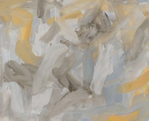 Untitled (pale grey yellow ochre), by Leah Durner