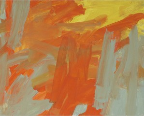 Untitled (orange yellow bluegray), by Leah Durner