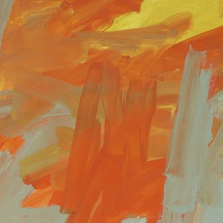 Untitled (orange yellow bluegray) art for sale