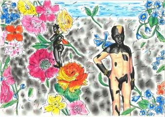 Lennon Jno-Baptiste Untitled (Venus-Flower Spotted) art for sale