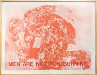 MEN ARE NOT FOR BURNING, by Leon Golub