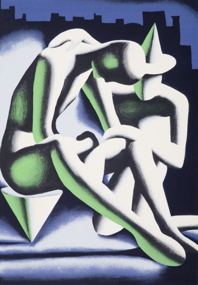 Mark Kostabi - Best Buddies, Print