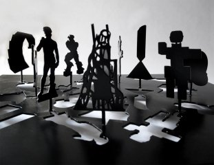 Untitled (Sculpture Silhouette Model), by <a href='/site-admin/artists/artist/169'>Peter Coffin</a>