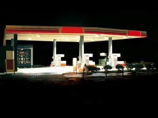 Petrol Station (black / red), by Ralf Peters