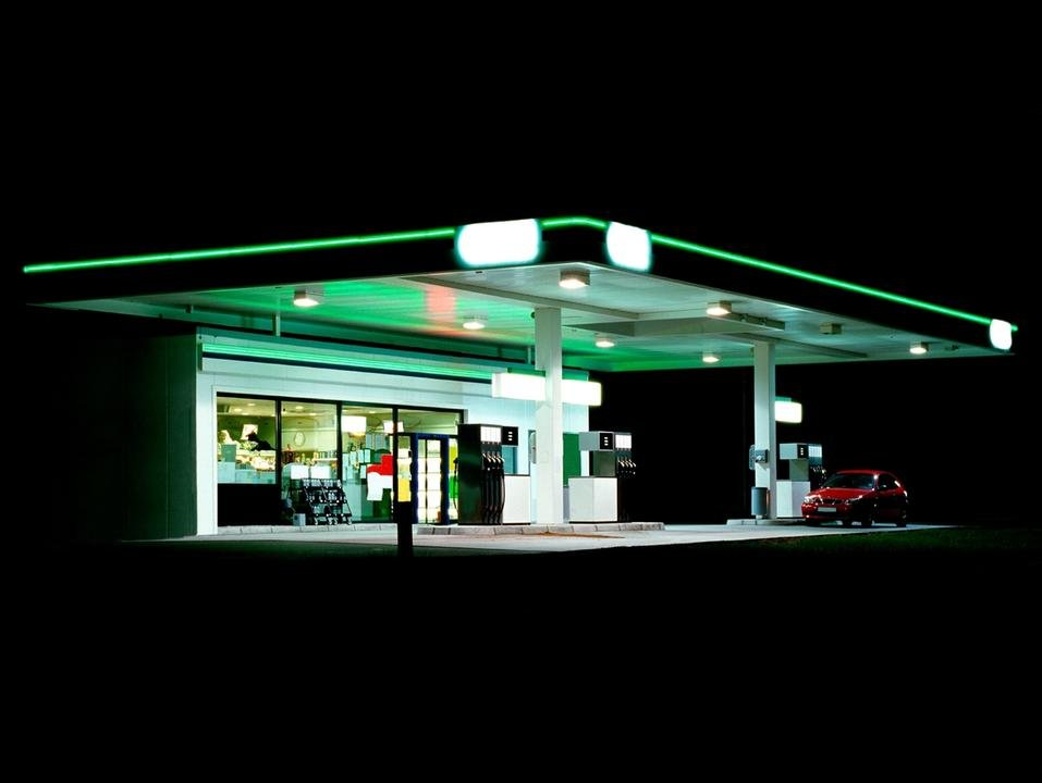 Ralf Peters, Petrol Station (green / black), 1998