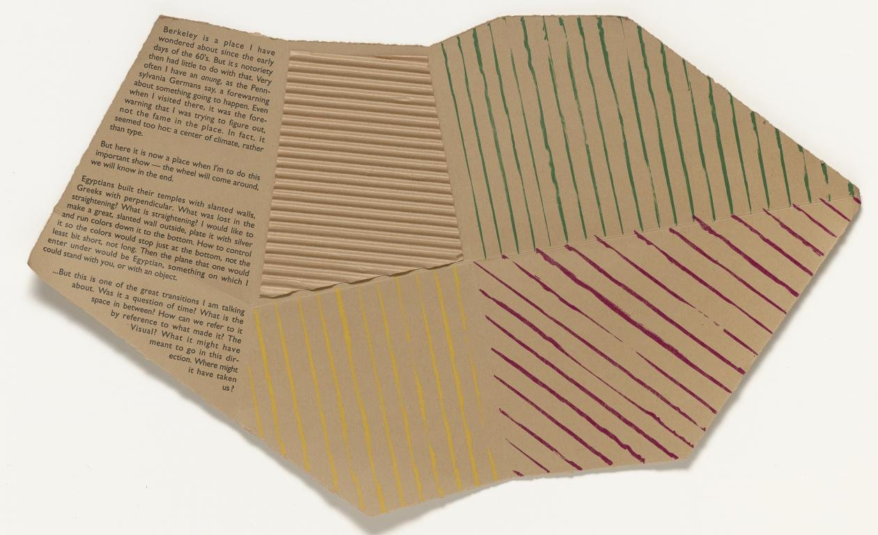 Richard Tuttle, Folded Space