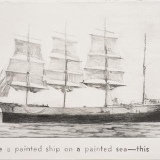 Untitled (painted ship on painted sea) art for sale