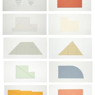 Robert Mangold, Multiple Panel Paintings, 1973-1976, a book of 9 screenprint reproductions