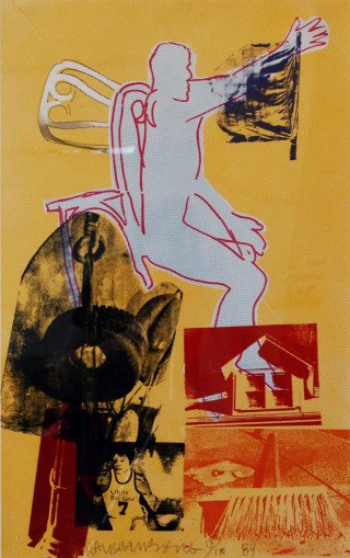 Portrait of Merce, by Robert Rauschenberg