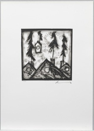 Robert Wilson Black Rider Series - C (Black/White - Trees) art for sale