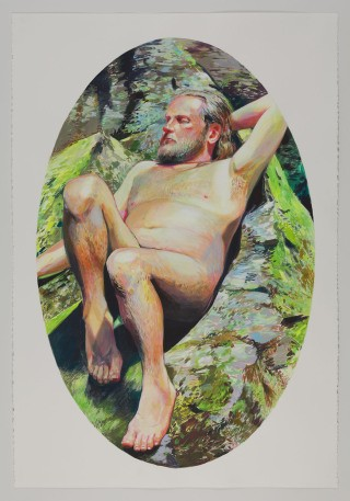 Robin F. Williams Man Basking art for sale