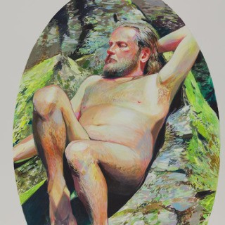 Man Basking art for sale