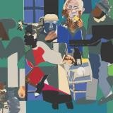 Romare Bearden, Family Dinner
