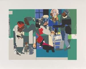 Romare Bearden Family Dinner art for sale