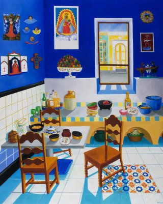 Roxa Smith La Cocina Azul art for sale